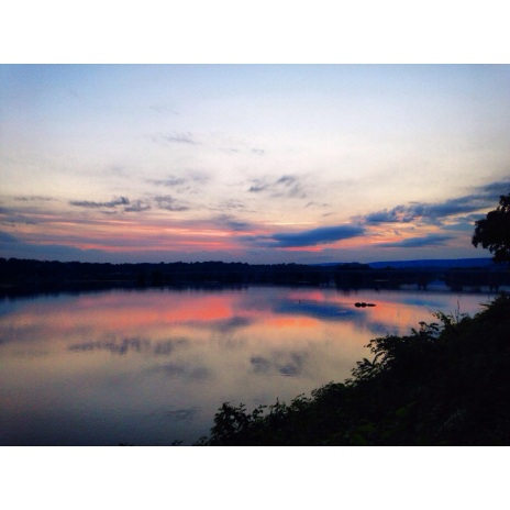 Sunset view of the Susquehanna River from our front stoop