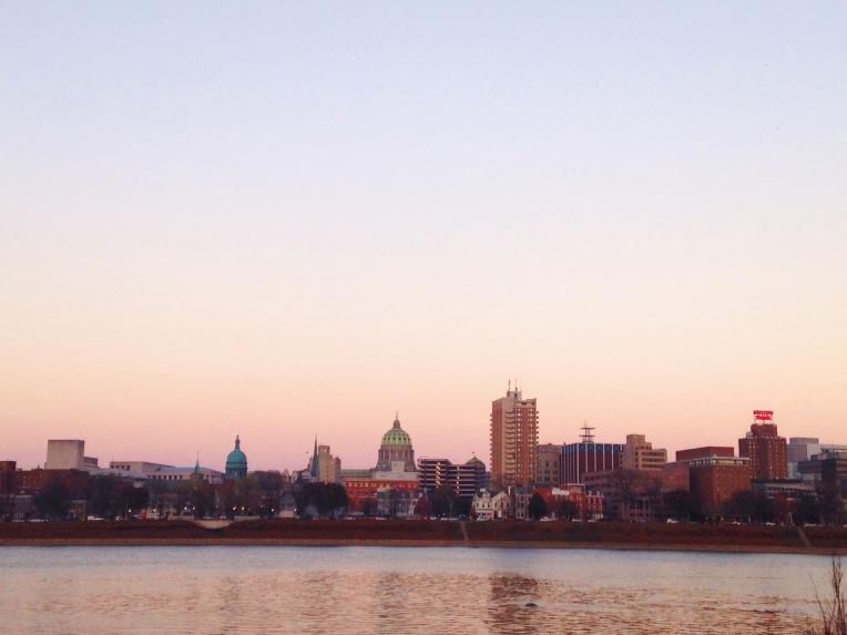 Harrisburg at dusk