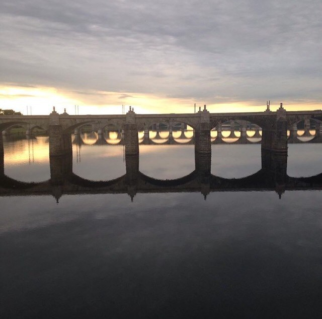 Harrisburg bridge in the morning
